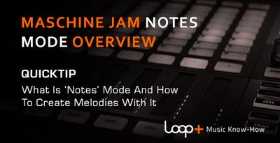 Quicktips maschinejam notes mode overview