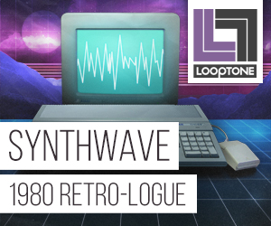 Looptone synthwave 300 x 250