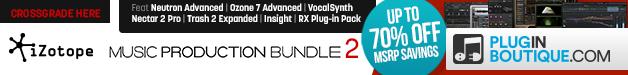 628x75 izotope music production bundle 2 pluginboutique