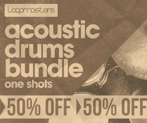 300 x 250 lm acoustic drums bundle